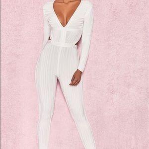 House of CB white bandage jumpsuit Arya